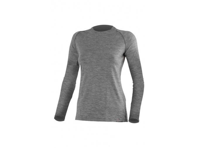 Lasting ATILA 8484 šedé vlněné merino triko