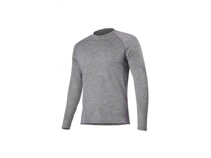 Lasting ATAR 8484 šedé vlněné merino triko