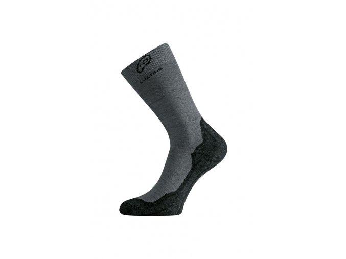 Lasting WHI 809 šedé vlněné ponožky  ponožky