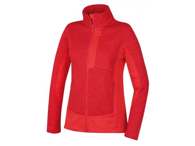 Husky Dámský fleecový svetr   Alan L jemná červená