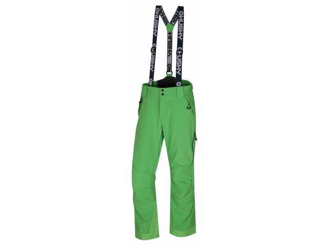Husky Pánské lyžařské kalhoty  Galti M sv. zelená