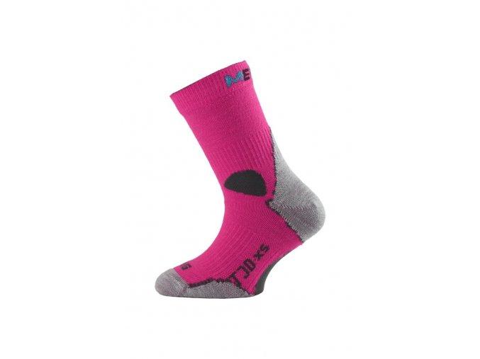 Lasting TJD 408 růžové merino ponožka junior slabší  ponožky