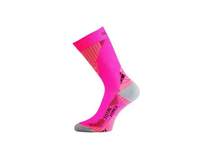 Lasting ITF 408 růžové Středně dlouhá inlinová ponožka  ponožky