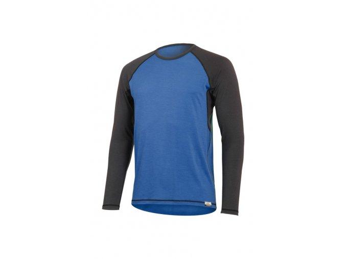 Lasting MARIO 5180 modré pánské vlněné merino triko
