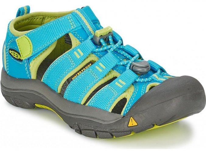 Keen NEWPORT H2 YOUTH hawaiian blue/green glow  dětské sandály + kód pro dodatečnou 15% slevu: OBUV15