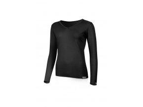 Lasting EVA 9090 černá merino triko s výstřihem