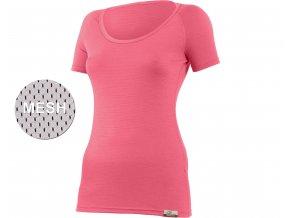 Lasting KANDY 3232 Lososová vlněné Merino triko