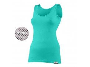 Lasting KARINA 6565 zelená vlněné Merino triko