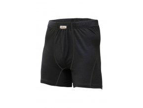 Lasting NICO 9090 černá vlněné Merino boxerky
