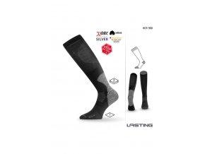 Lasting HCR 900 černá slabá hokejová ponožka  ponožky