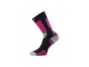 Lasting ILR 904 černá Středně dlouhá inlinová ponožka