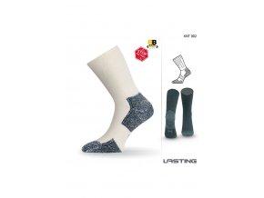 Lasting KNT 002 bílá funkční ponožky