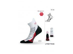 Lasting RPC 093 bílá běžecké ponožky  ponožky