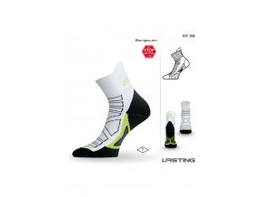 Lasting RPC 096 bílá běžecké ponožky