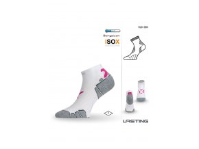 Lasting RUN 004 bílá běžecké ponožky  ponožky