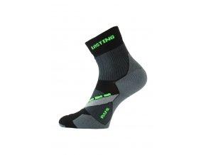 Lasting RUS 908 černá běžecké ponožky