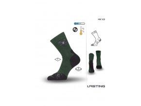 Lasting Myslivecká ponožka HNC 620 zelená