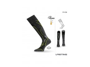 Lasting STW 986 Merino podkolenka černá  ponožky
