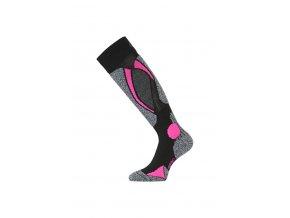 Lasting SWC 904 černá merino ponožky lyžařské  ponožky