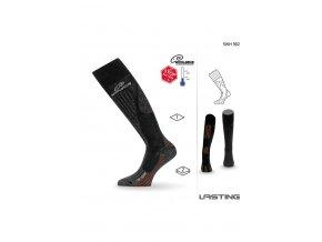 Lasting SWH 902 černá silné podkolenky  ponožky