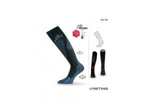 Lasting SWH 905 černá silné podkolenky  ponožky