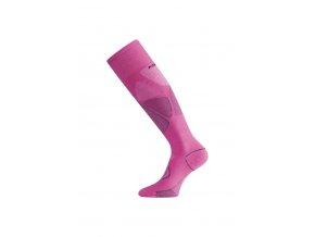 Lasting SWL 498 růžová MERINO podkolenka  ponožky