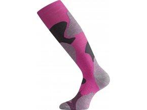 Lasting SWM 488 růžová merino ponožky lyžařské