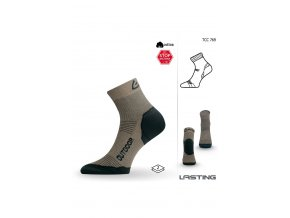 Lasting TCC 769 béžová funkční ponožky  ponožky