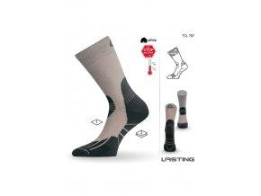 Lasting TCL 707 béžová trekingová ponožka  ponožky