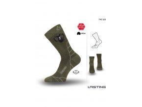Lasting Hunting ponožka TCM 620 zelená  ponožky