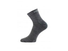 Lasting WHO 800 šedá ponožka z merino vlny  ponožky