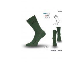 Lasting XOL 620 zelená turistická ponožka  ponožky