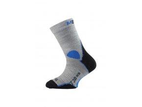 Lasting TJD 800 šedá merino ponožka junior slabší  ponožky