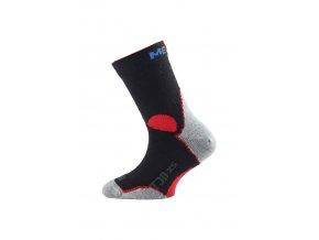 Lasting TJD 903 černá merino ponožka junior slabší  ponožky