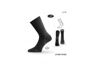 Lasting TKA 900 černá vlněné zimní ponožky