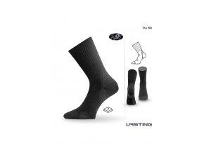 Lasting TKA 900 černá vlněné zimní ponožky  ponožky