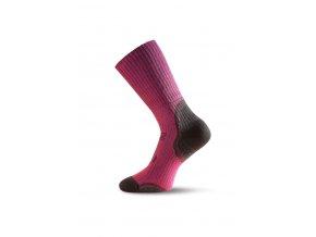 Lasting TKA 306 růžová vlněné zimní ponožky