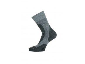 Lasting TKN 800 šedá ponožky celoroční  ponožky