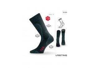 Lasting TKS 834 černá ponožky do zimy  ponožky