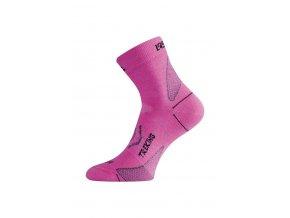 Lasting TNW 498 růžová merino ponožka