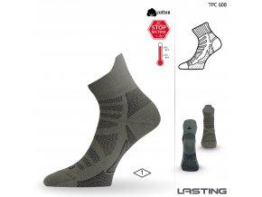 Lasting TPC 608 zelená trekingová ponožka