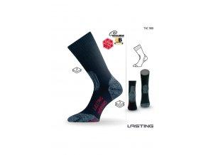 Lasting TXC 900 černá vlněné ponožky  ponožky