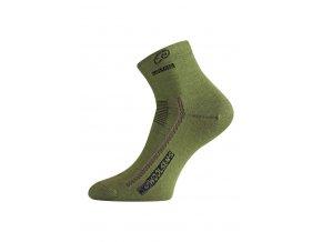 Lasting WKS 689 zelená vlněné ponožky