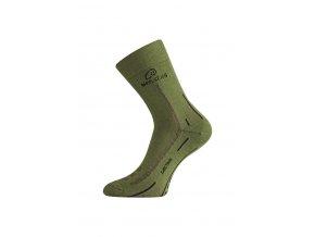 Lasting WLS 699 zelená vlněná ponožka