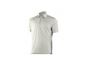 Lasting ELIOT 0101 bílá vlněné merino polo košile