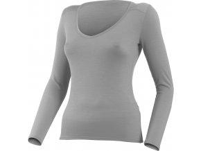 Lasting Merino triko s výstřihem EVA 8181 šedá