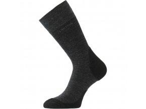 Lasting WHL 899 tmavě šedá  merino ponožky