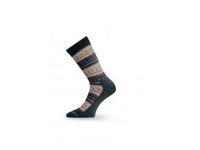 Lasting TWP 807 béžová zimní ponožka