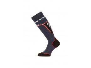 Lasting SWF 504 modrá silné podkolenky  ponožky