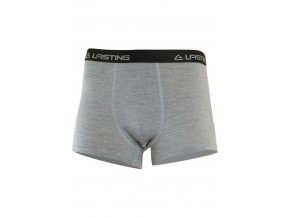 Lasting NORO 8484 šedé vlněné merino boxerky